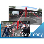 The ceremony of new plant expanding project opening